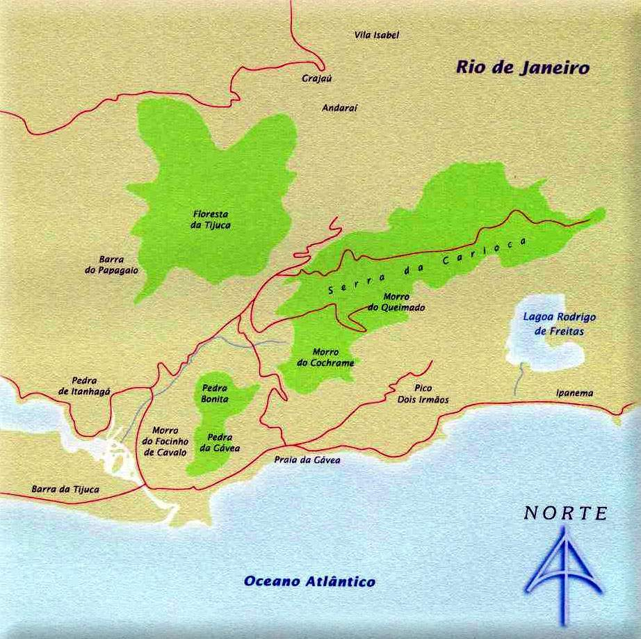 National Park : Tijuca in Rio de Janeiro (Brazil)